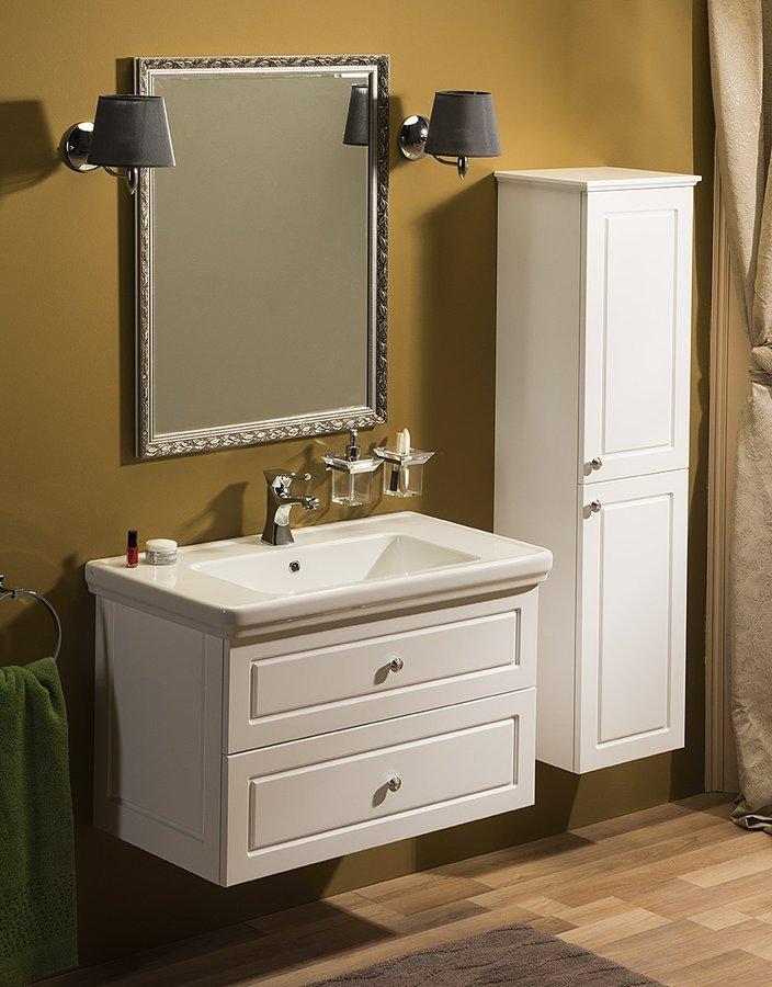 Koupelnový set VIOLETA 90, bílá pololesk