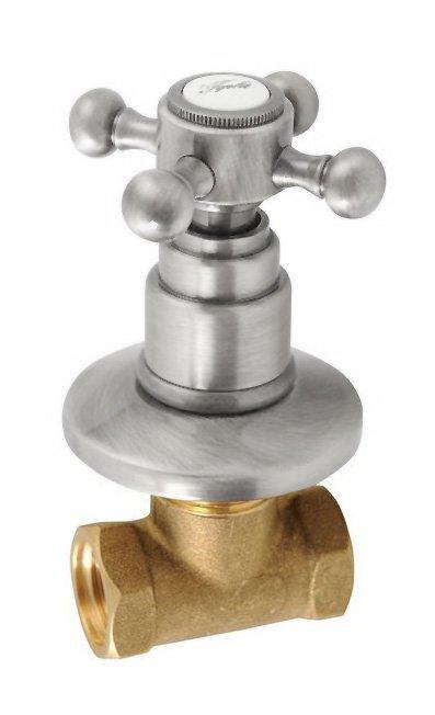 ANTEA podomítkový ventil, teplá, nikl