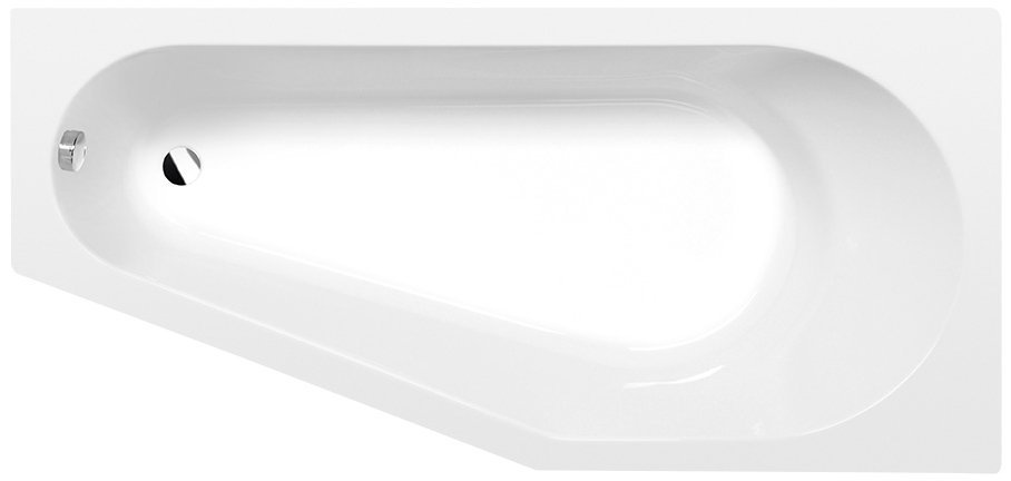 TIGRA R asymetrická vana 170x80x46cm, bílá
