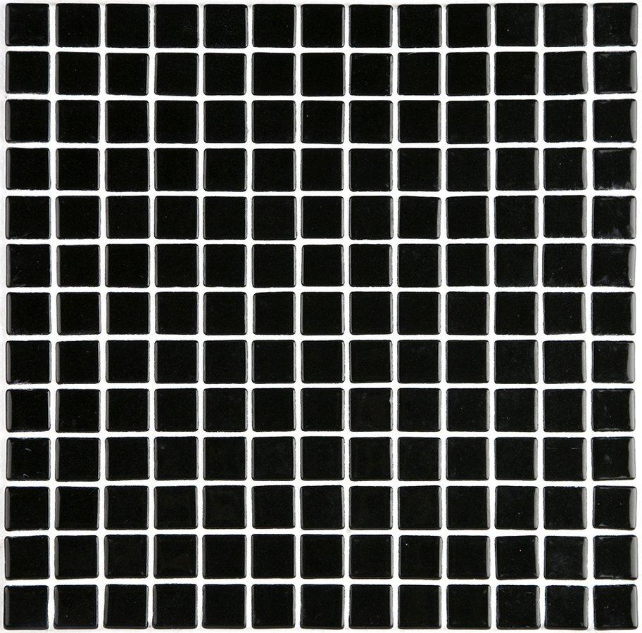 LISA plato skleněné mozaiky black 2,5x2,5cm