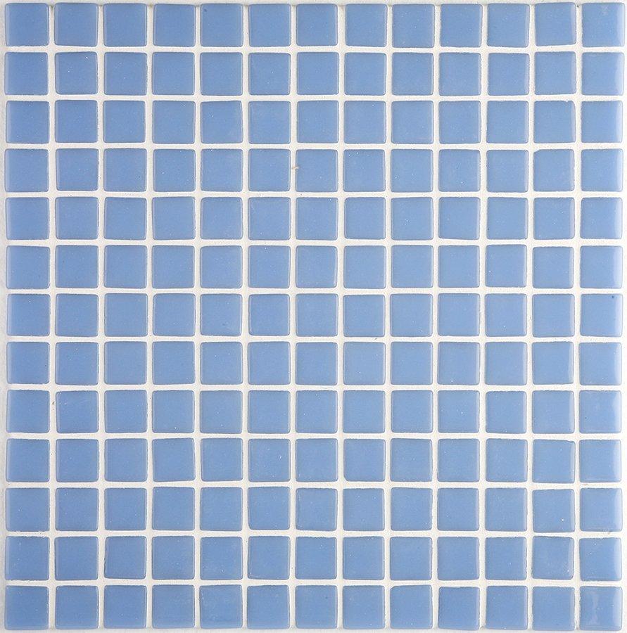 LISA plato skleněné mozaiky blue 2,5x2,5cm