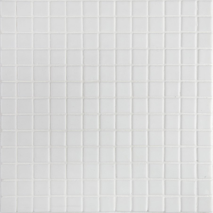 LISA plato skleněné mozaiky white 2,5x2,5cm