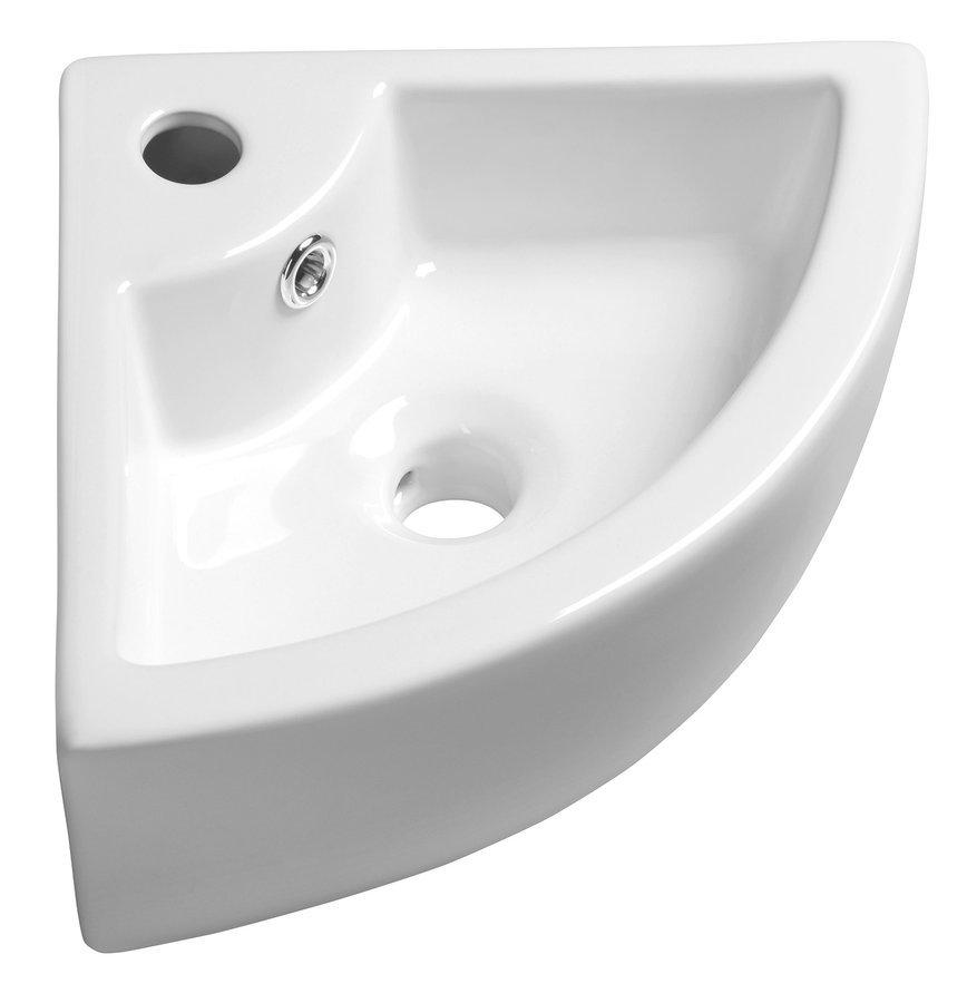 GYNT keramické umyvadlo rohové 33x13x33 cm