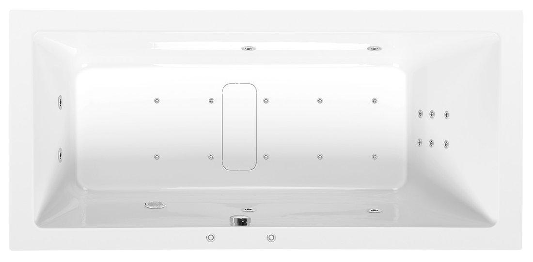 MARLENE HYDRO-AIR hydromasážní vana, 170x80x48cm, bílá