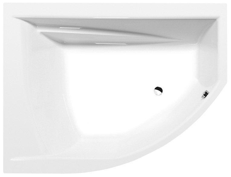 TANDEM L asymetrická vana 170x130x50cm, bílá