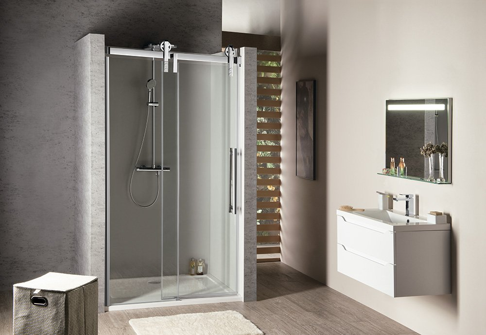 VOLCANO sprchové dveře 1300 mm, čiré sklo