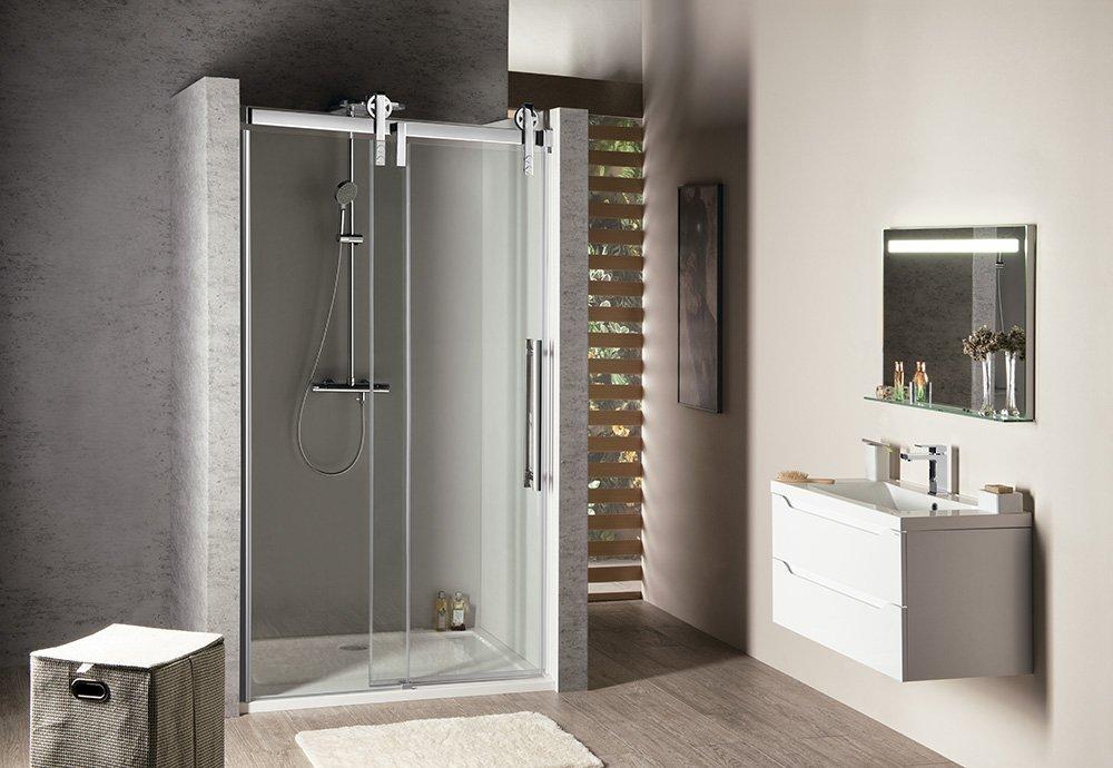 VOLCANO sprchové dveře 1400 mm, čiré sklo
