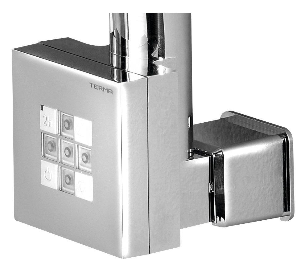 KTX topná tyč s termostatem, s krytem pro kabel, 300 W, chrom
