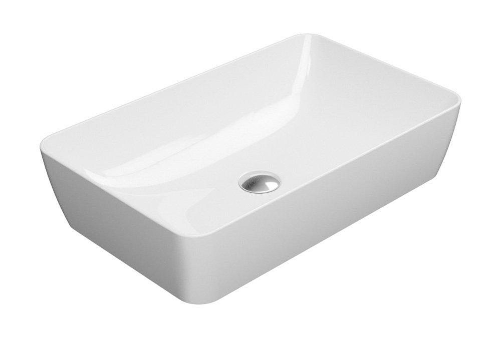 SAND umyvadlo na desku 60x38 cm, bílá ExtraGlaze