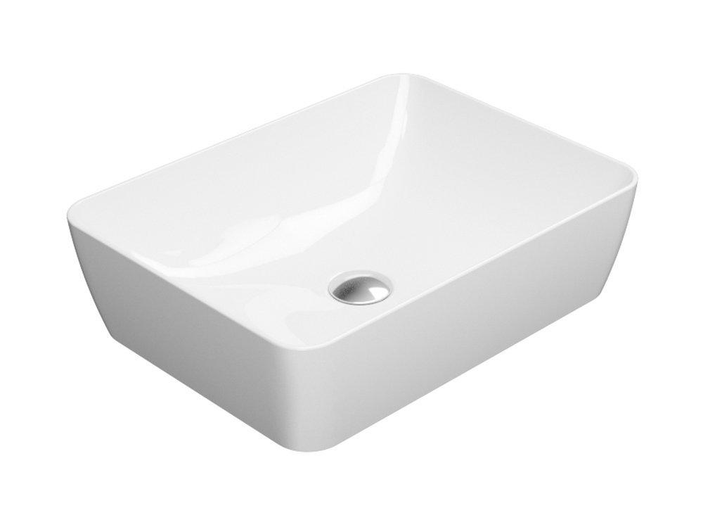 SAND umyvadlo na desku 50x38 cm, bílá ExtraGlaze