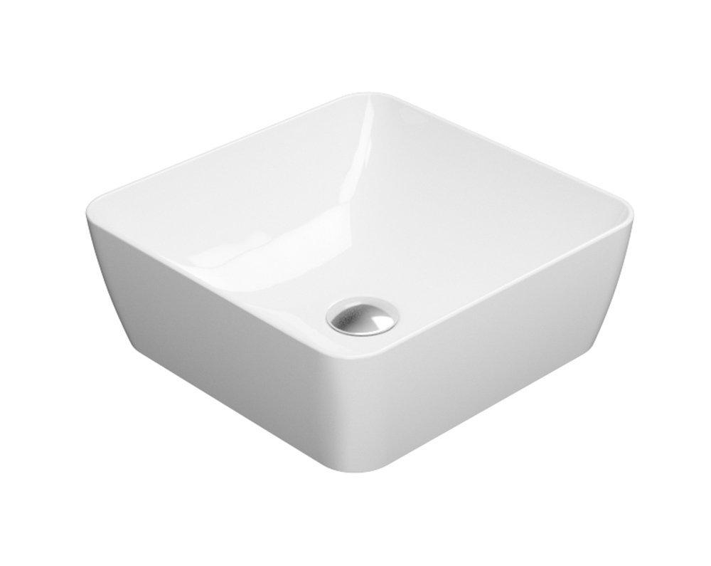 SAND umyvadlo na desku 38x38 cm, bílá ExtraGlaze