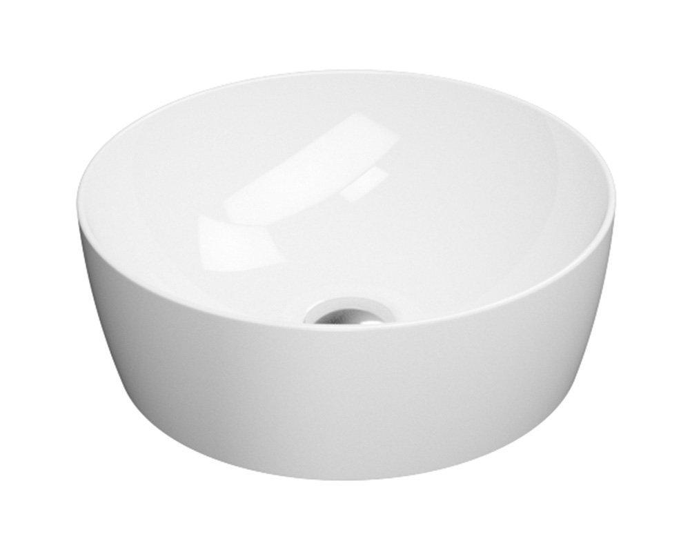 SAND umyvadlo na desku průměr 40 cm, bílá ExtraGlaze
