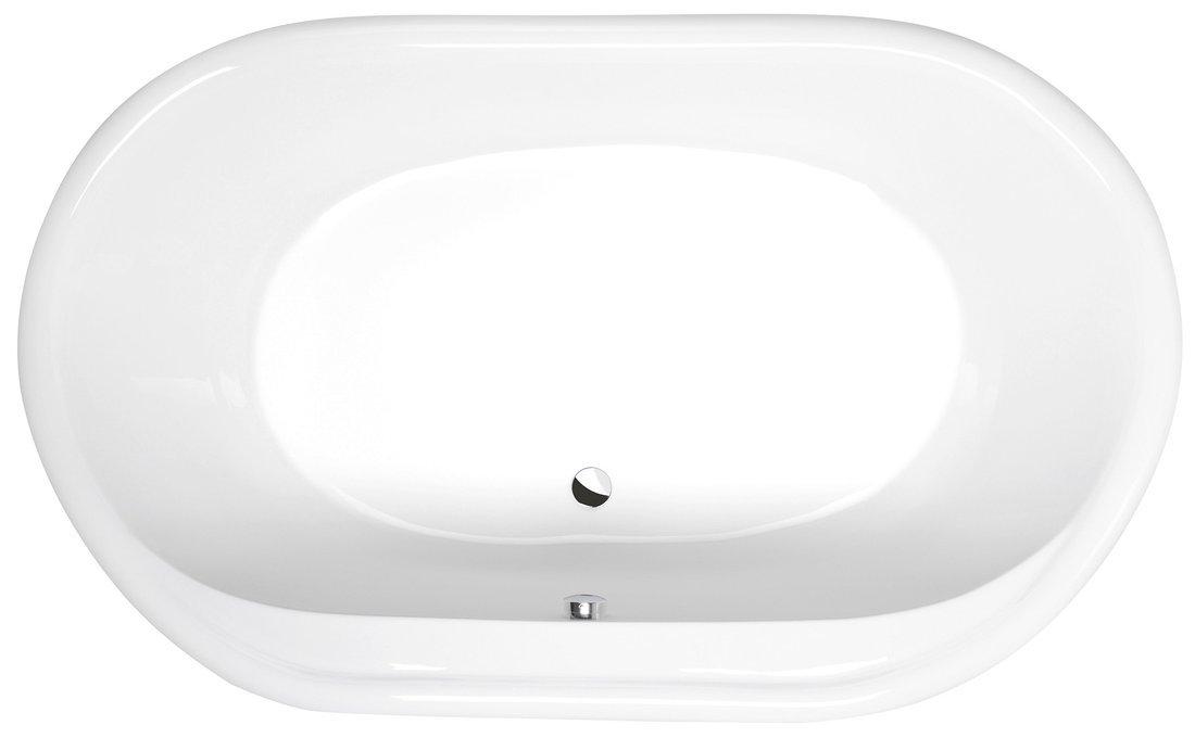 EOLA oválná vana 190x113x48cm, bílá