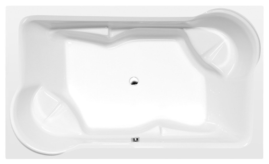 DUO obdélníková vana s konstrukcí 200x120x45cm, bílá