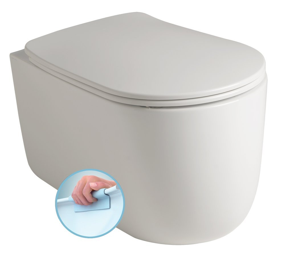 NOLITA závěsná WC mísa, Rimless, 35x55 cm, bílá