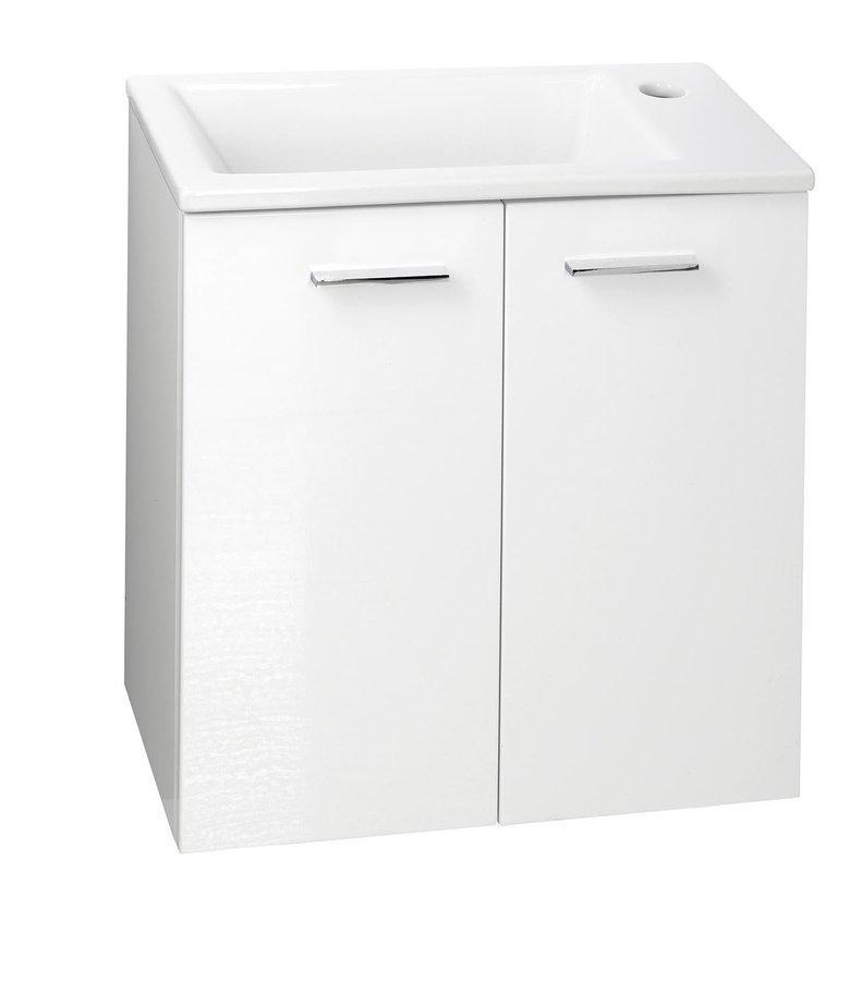 ZOJA umyvadlová skříňka 49x50x24,6cm, 2 dvířka, bílá