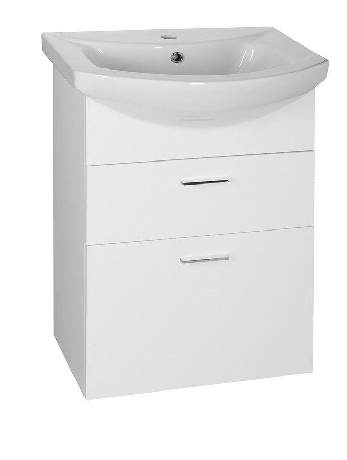 ZOJA umyvadlová skříňka šuplíková 50,5x74x30 cm, bílá