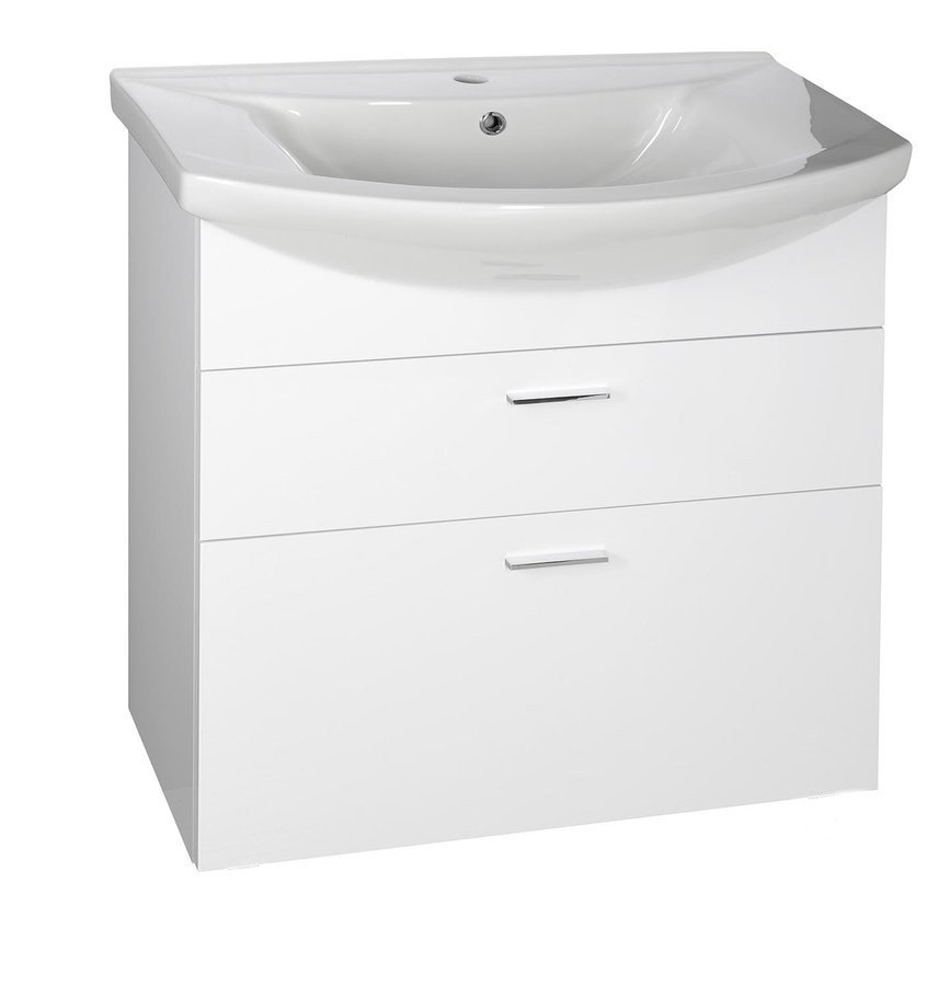 ZOJA umyvadlová skříňka šuplíková 71,5x74x34cm, bílá