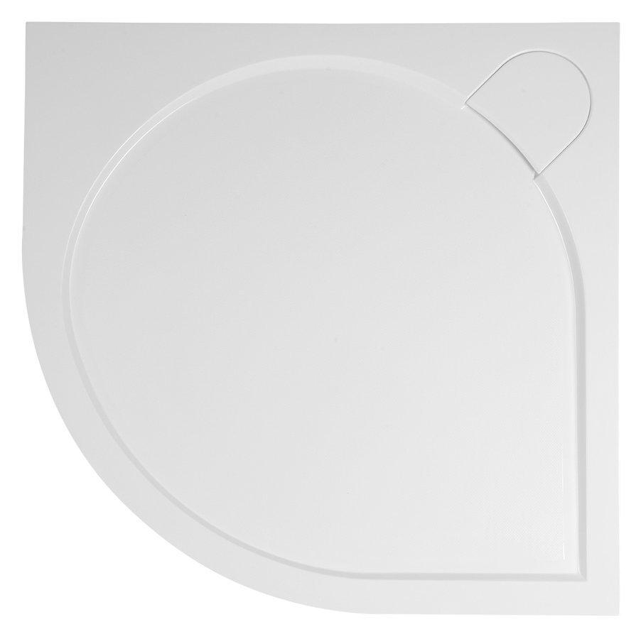 ARCA sprchová vanička z litého mramoru, čtvrtkruh, 90x90x3 cm, R550