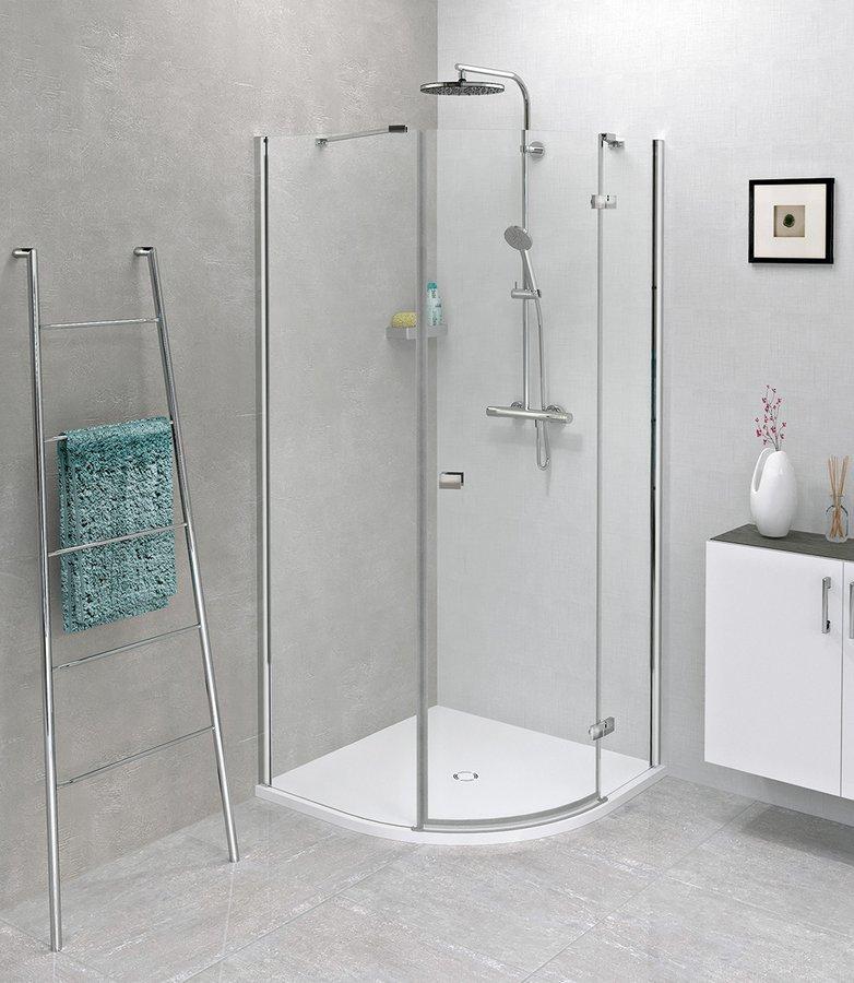 FORTIS LINE čtvrtkruhová sprchová zástěna 900x900x2000mm, pravá