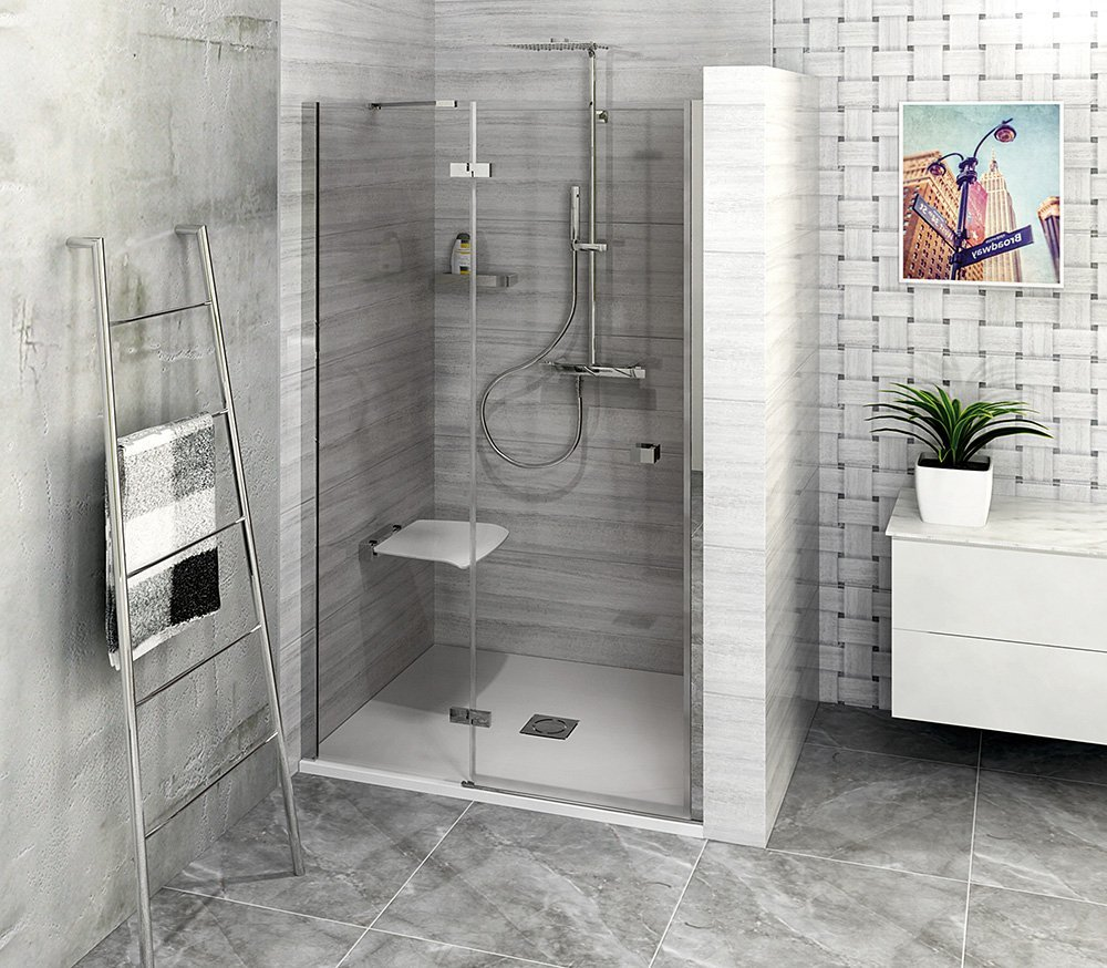 FORTIS LINE sprchové dveře do niky 900mm, čiré sklo, levé