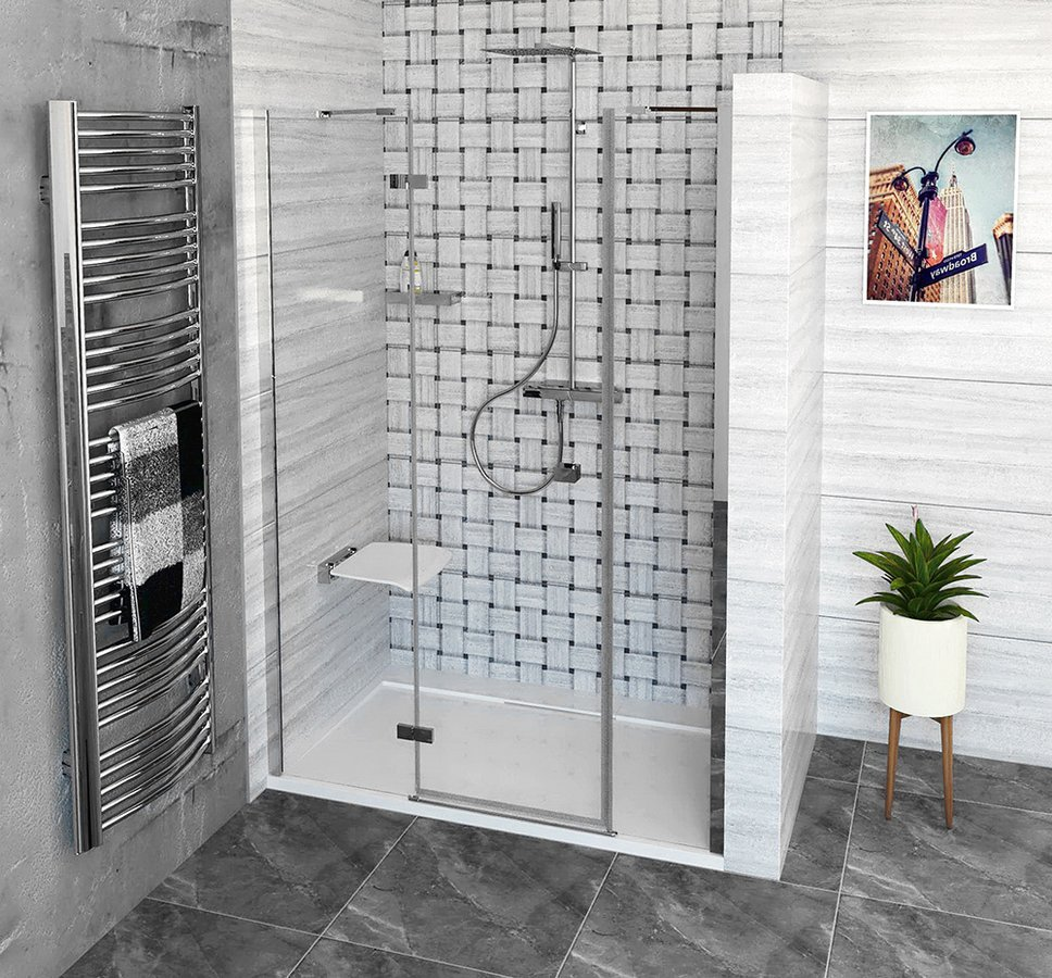 FORTIS LINE sprchové dveře do niky 1400mm, čiré sklo, levé