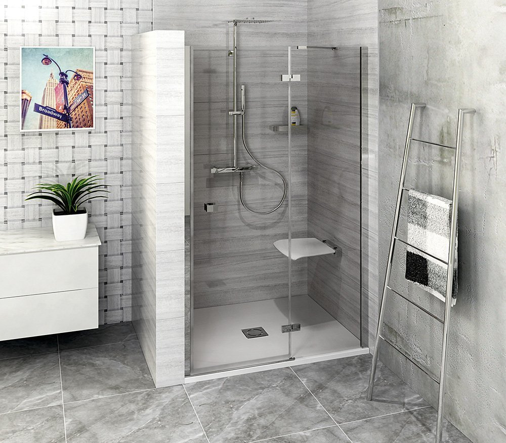 FORTIS LINE sprchové dveře do niky 800mm, čiré sklo, pravé