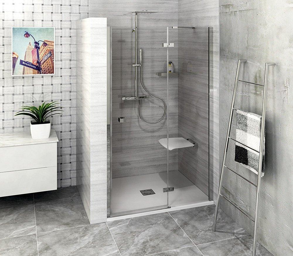 FORTIS LINE sprchové dveře do niky 900mm, čiré sklo, pravé