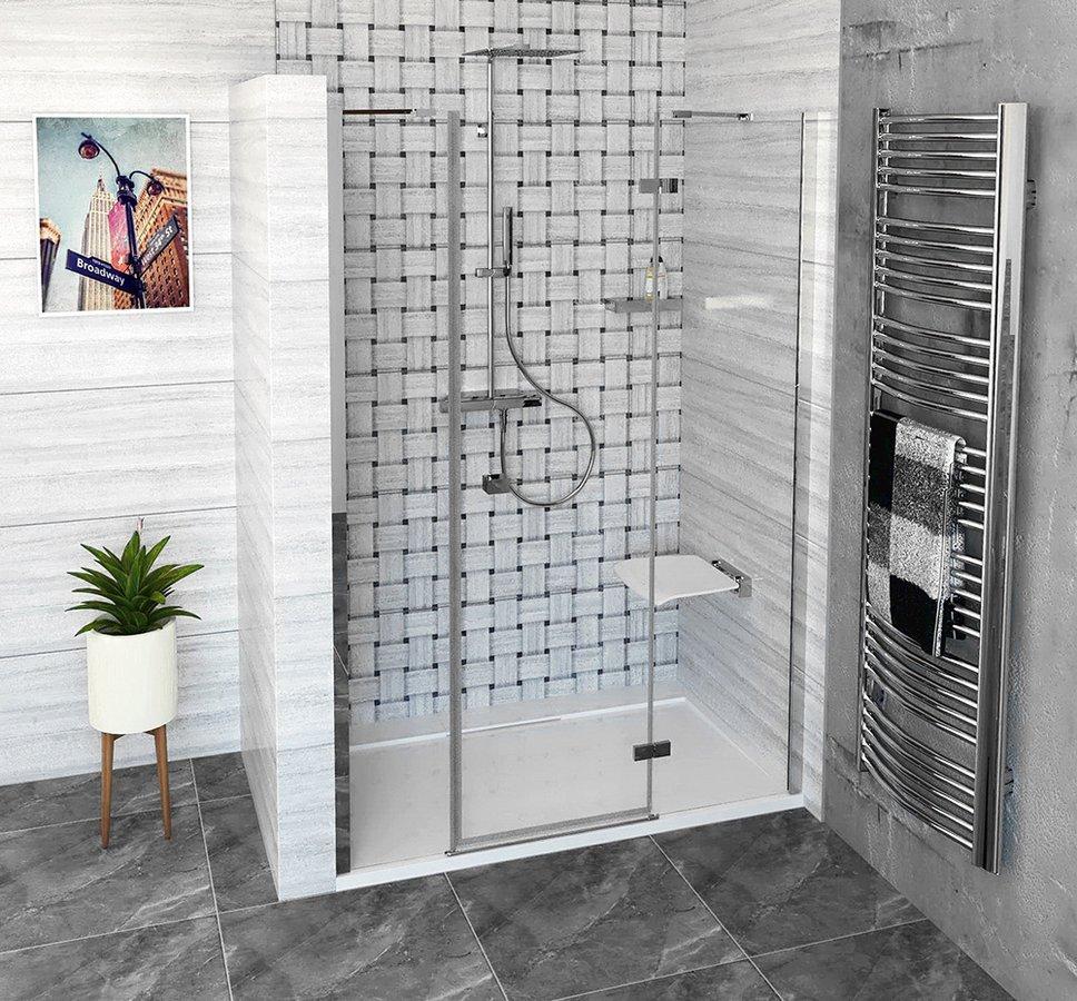 FORTIS LINE sprchové dveře do niky 1300mm, čiré sklo, pravé