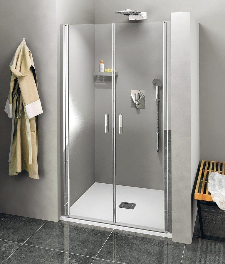 ZOOM LINE sprchové dveře dvojkřídlé 1000mm, čiré sklo