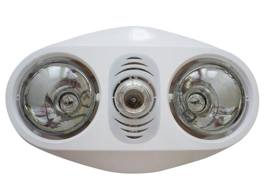 Stropní koupelnový infrazářič s osvětlením a ventilátorem, 630 W, bílá