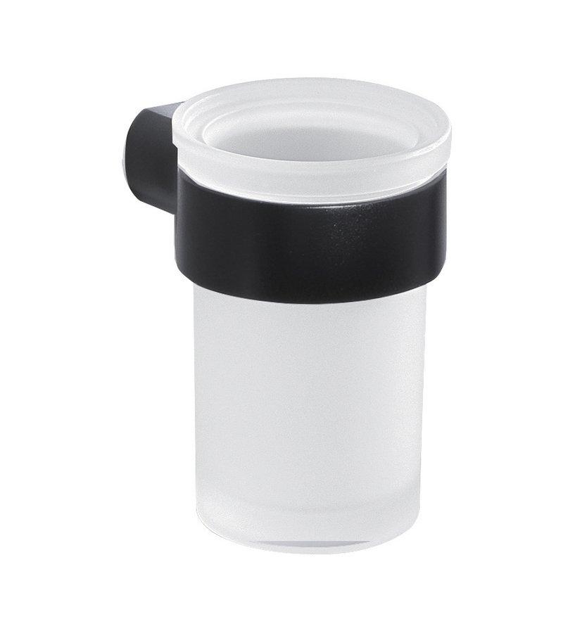 PIRENEI sklenka, černá mat/mléčné sklo