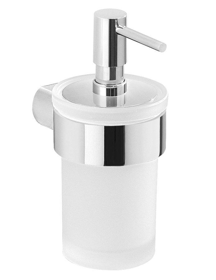 PIRENEI dávkovač mýdla, chrom/mléčné sklo