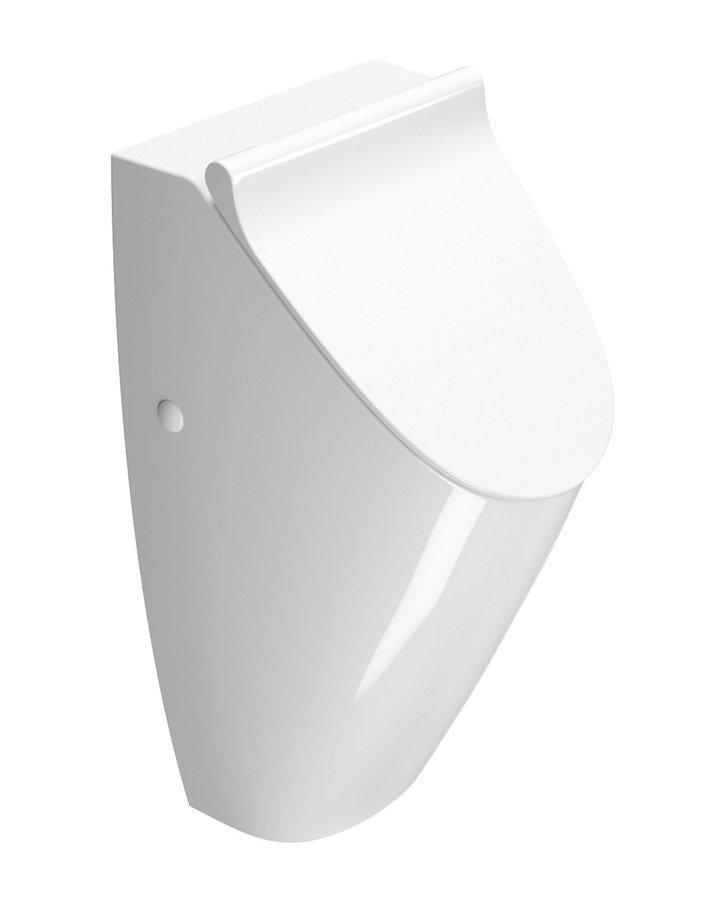 SAND urinal s otvory pro víko, bílá ExtraGlaze