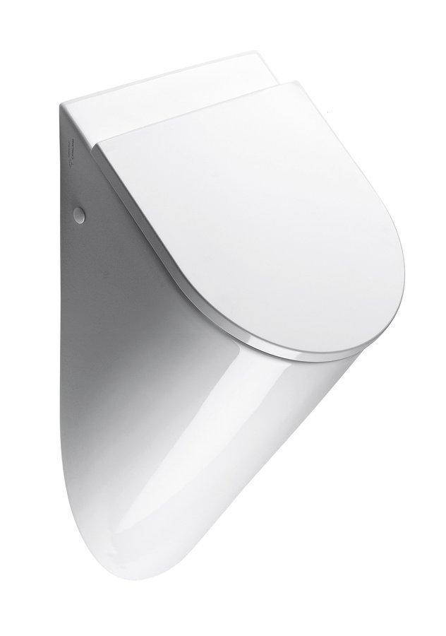 PURA urinál se zakrytým přívodem vody, 39x60x31 cm, otvory pro víko, bílá ExtraGlaze