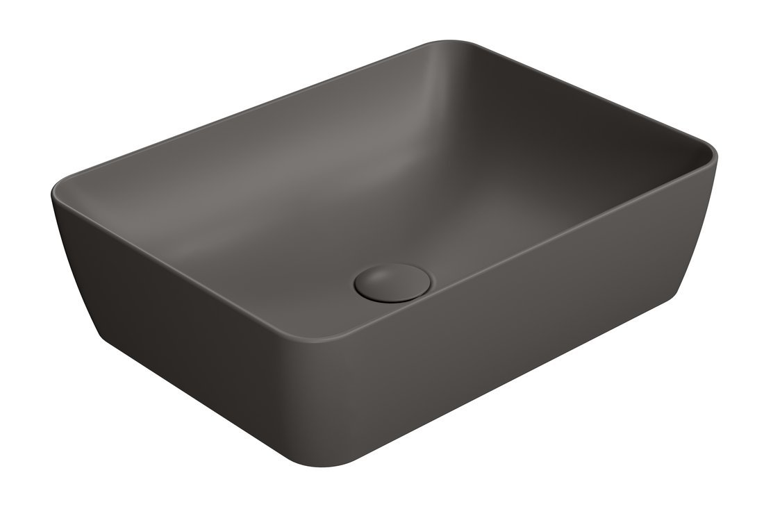 SAND umyvadlo na desku 50x38 cm, bistro mat