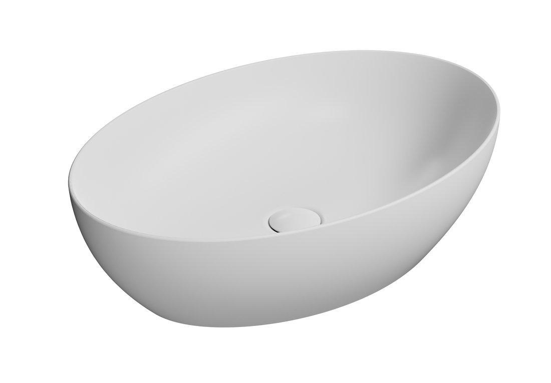 PURA umyvadlo na desku 60x42 cm, bílá mat