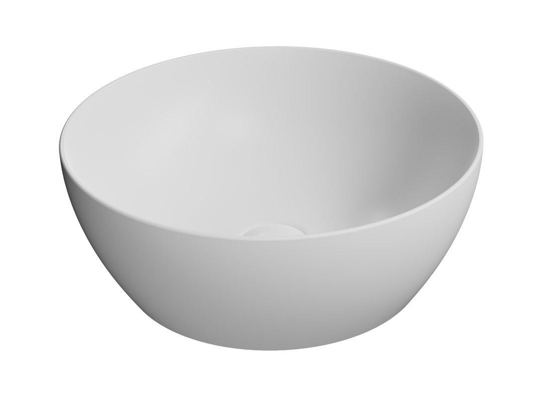 PURA umyvadlo na desku průměr 42 cm, bílá mat