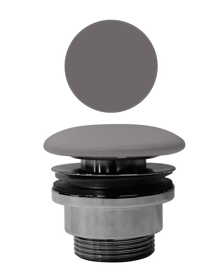 """GSI umyvadlová výpust 5/4"""", neuzavíratelná, tl.5-65 mm, keramická krytka, bistro mat"""