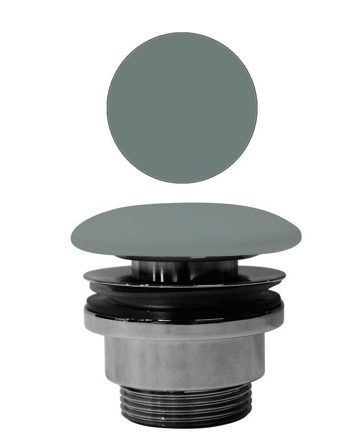 """GSI umyvadlová výpust 5/4"""", neuzavíratelná, tl.5-65 mm, keramická krytka, agave mat"""