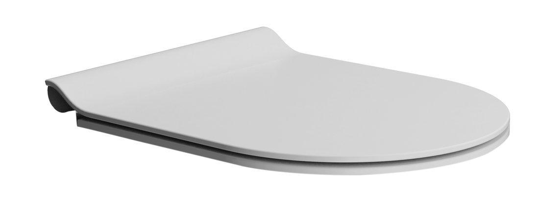 WC sedátko SLIM soft close, duroplast, bílá mat/chrom