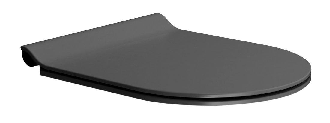 WC sedátko SLIM soft close, duroplast, černá mat/chrom