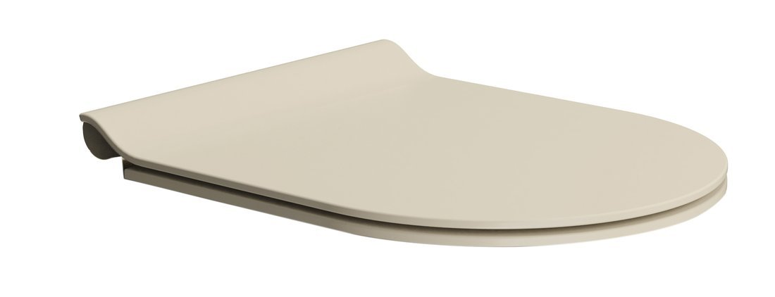 WC sedátko SLIM soft close, duroplast, creta mat/chrom