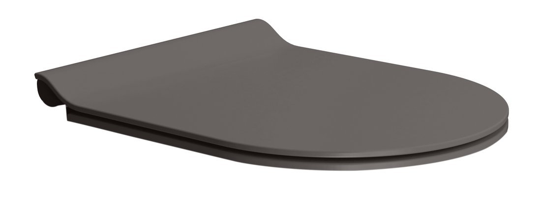 WC sedátko SLIM soft close, duroplast, bistro mat/chrom