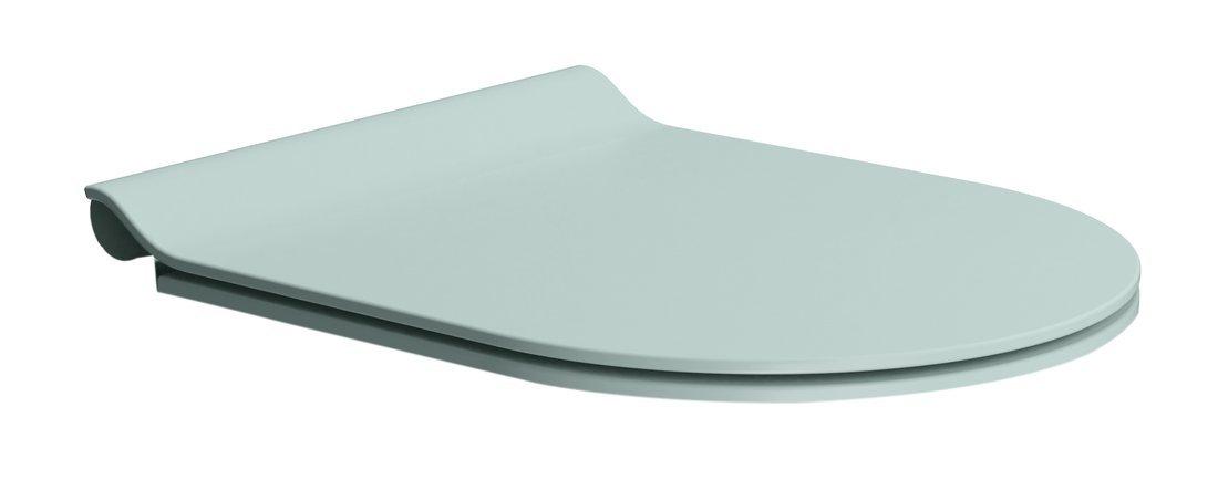 WC sedátko SLIM soft close, duroplast, ghiaccio mat/chrom