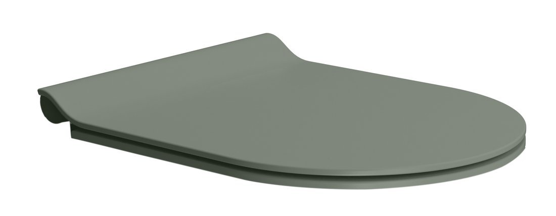 WC sedátko SLIM soft close, duroplast, agave mat/chrom