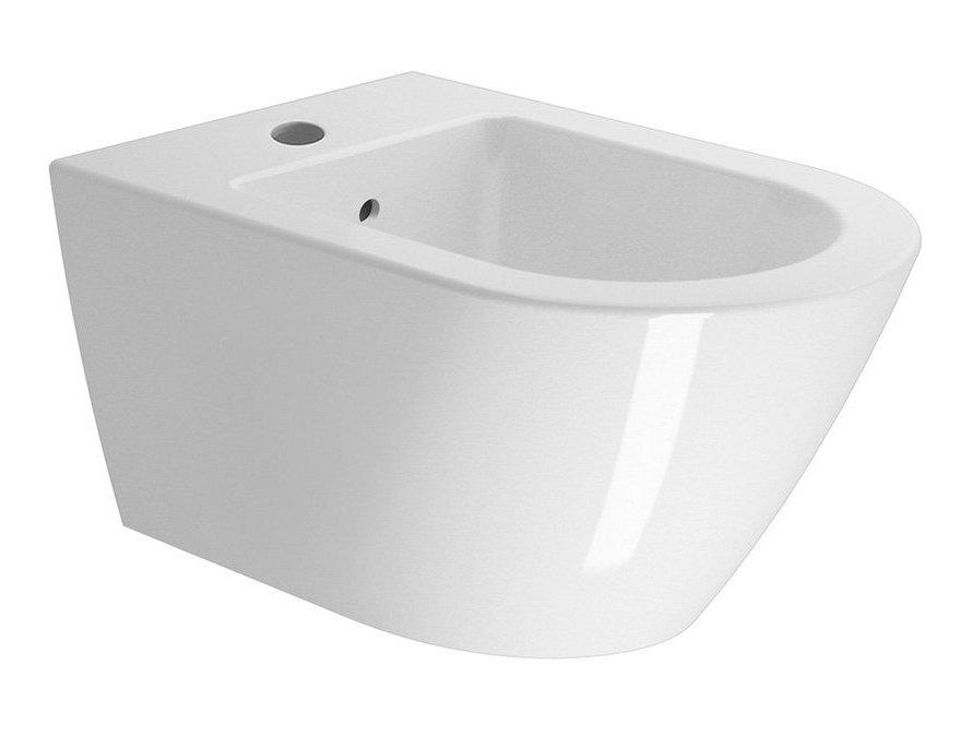 KUBE X bidet závěsný 55x36 cm, bílá ExtraGlaze