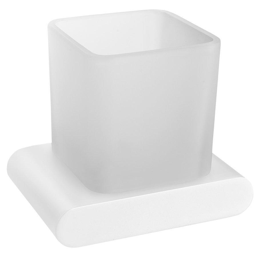FLORI sklenka, bílá mat/mléčné sklo
