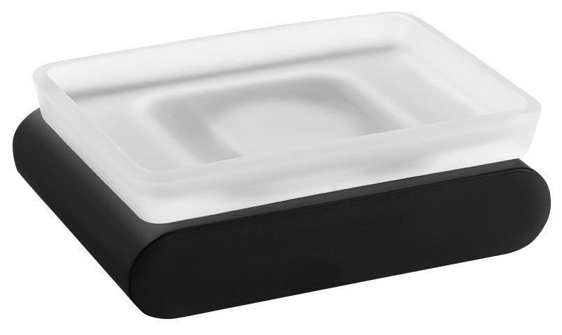 FLORI mýdlenka, černá mat/mléčné sklo