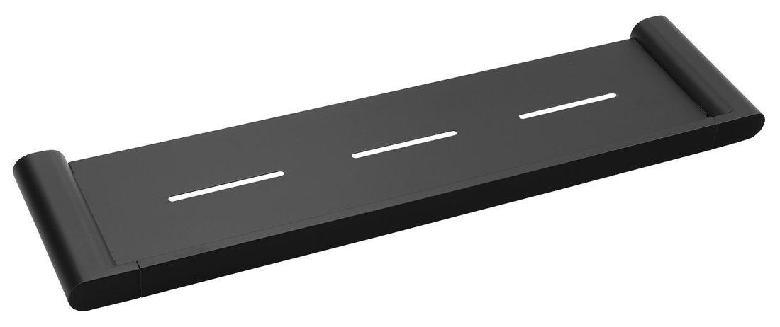 FLORI polička 508x25x127mm, černá mat